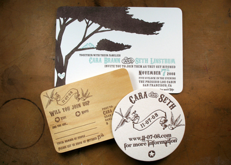 Paper Monkey Press Custom Wedding Invitations